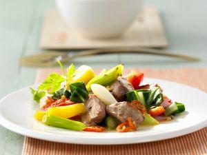 Entenbrust mit Gemüse aus dem Wok Rezept