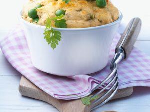 Erbsen-Quark-Souffle mit Parmesan Rezept