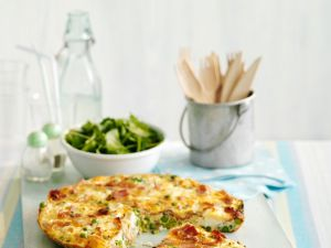 Erbsen-Schinken-Frittata Rezept
