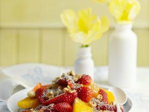 Erdbeer-Orangensalat mit Chiasamen und Walnüssen Rezept