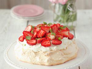 Erdbeer-Pavlova Rezept