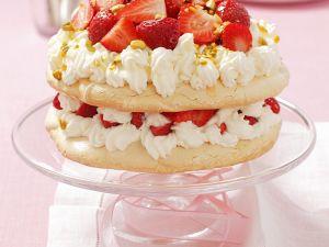 Erdbeer-Sahne-Pavlova Rezept