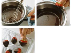 Erdbeeren mit Schokolade Rezept