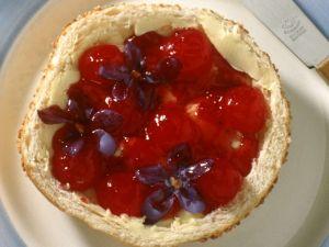 Erdbeermarmelade mit Veilchen Rezept