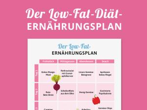 Low Fat: Der Ernährungsplan