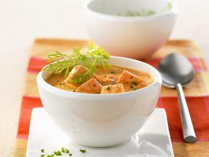 Lachssuppe auf kalifornische Art Rezept