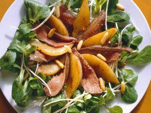 Feldsalat mit Hase und Birne Rezept