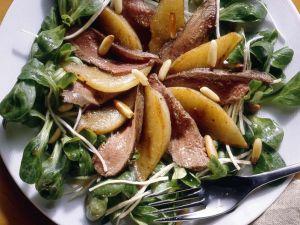 Feldsalat mit Hasenfilet Rezept