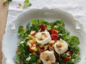 Feldsalat mit Ziegenkäsetalern Rezept