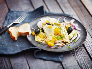 Fenchel-Orangen-Salat mit Oliven Rezept