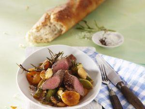 Filet vom Lamm mit Lauch-Aprikosen-Gemüse Rezept