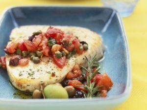 Filet vom Schwertfisch mit Kapern-Tomaten-Salsa Rezept