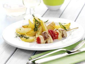 Filetspießchen mit Kräuter-Röst-Kartoffeln Rezept