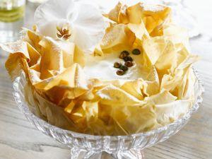 Filokuchen mit Vanille-Frischkäse-Creme Rezept