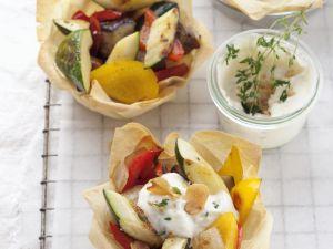 Filoküchlein mit Grillgemüse Rezept