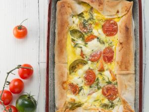Filoteig-Tomatengratin Rezept