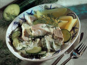 Fisch-Gurken-Ragout Rezept