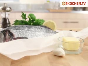 Fisch im Ofen dämpfen