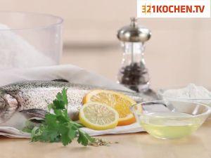 Simpler Fisch in Salzkruste