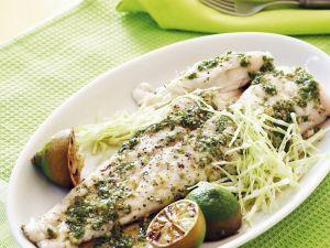 Fisch mit asiatischer Vinaigrette Rezept