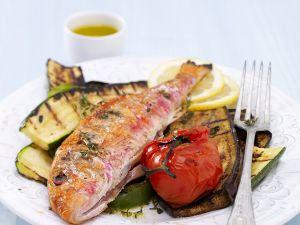 Fisch mit gegrilltem Gemüse Rezept