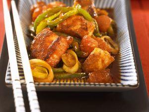 Fisch mit Gemüse aus dem Wok Rezept