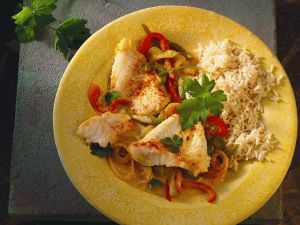 Fisch mit Paprikaragout Rezept