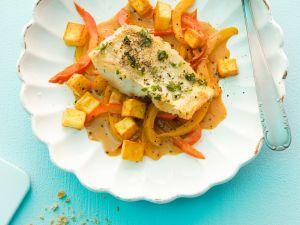 Fisch mit Rahmgemüse Rezept