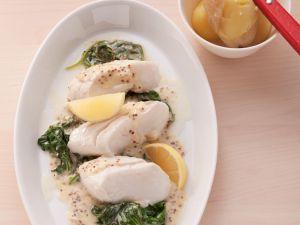 Fisch mit Spinat und Cremesauce Rezept