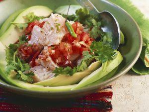 Fisch mit Tomaten und Koriander (Ceviche) Rezept