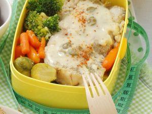 Fisch, Reis und Gemüse Rezept