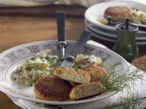 Fischbuletten mit Kartoffelsalat Rezept
