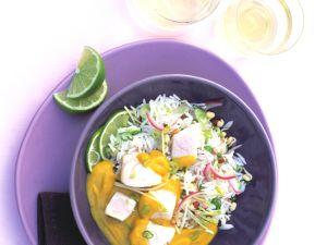 Fischcurry mit Limetten und Basmatireis Rezept