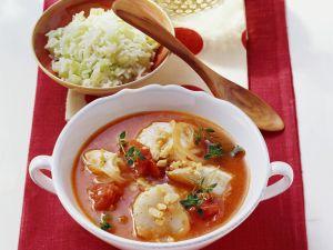 Fischeintopf mit Sellerie-Reis Rezept