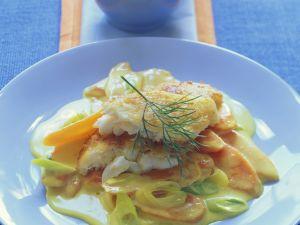 Fischfilet auf Currykarotten mit Ingwer Rezept