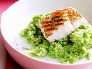 Fischfilet auf Sellerie-Erbsen-Püree Rezept