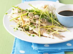 Fischfilet mit Ingwer und Zitronengras Rezept