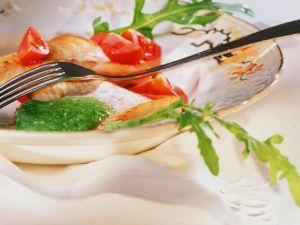 Fischfilet mit Rucoalsauce Rezept