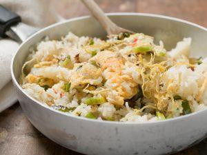 Fischpfanne mit Reis Rezept