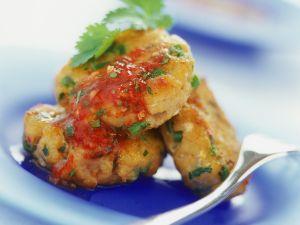 Fischpuffer mit Chilisauce Rezept