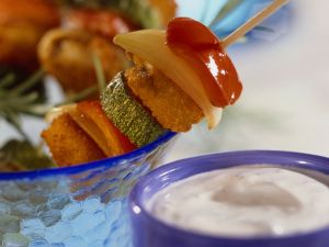 Fischstäbchen-Spieße mit Gemüse Rezept
