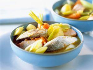 Fischsuppe mit Lauch Rezept