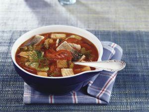 Fischsuppe mit Paprika Rezept