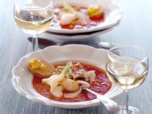 Fischsuppe mit Sauce Rouille Rezept