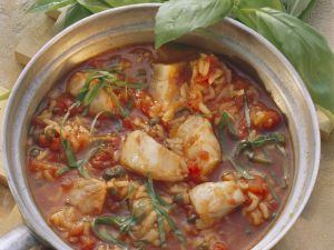 Fischtopf mit Reis Rezept