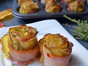 Kartoffelröschen mit Speck und Thymian