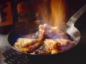 Flambierte Crêpes Rezept