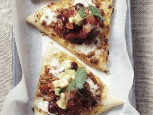 Flammkuchen mit Hackfleisch und Bohnen Rezept