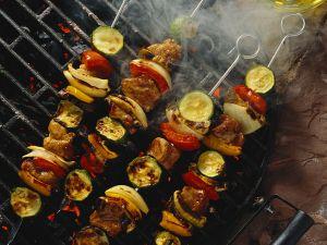 Fleischspieß mit Gemüse Rezept