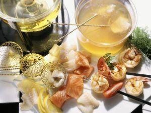 Fondue mit Fisch Rezept